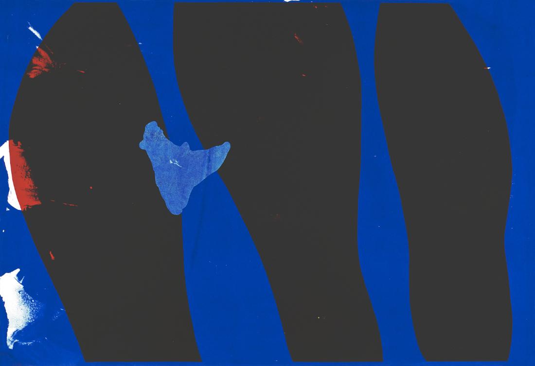 Lars Teigum, Flytende tilstand. Silketrykk. 88 x 62 cm