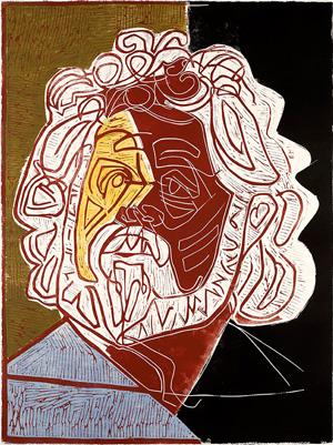 Edvard Hoem, lino/tresnitt