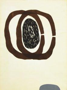 Siw Lurås, Organisme 10. Koldnål / tresnitt, 28 x 21 cm