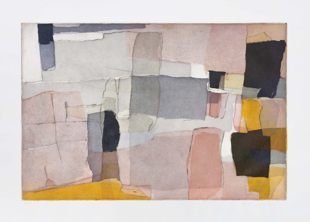 Hanne-May Scheen - Oltrarno variant 1. Etsning på papir, 50 x 70 cm. Foto: Øystein Thorvaldsen