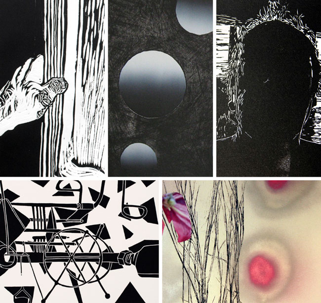 Penta - Utsnitt av verk fra de respektive kunstnerne.