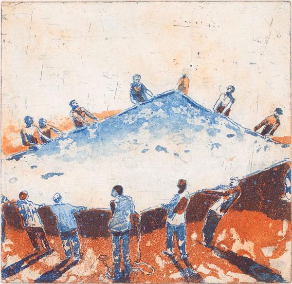 Giske Sigmundstad - Nett. Etsning, 2014. 22 x 23 cm
