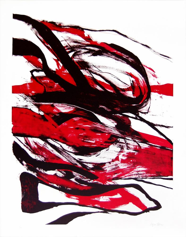 Inger Sitter: Uten tittel - Litografi, 97 x 123 cm.