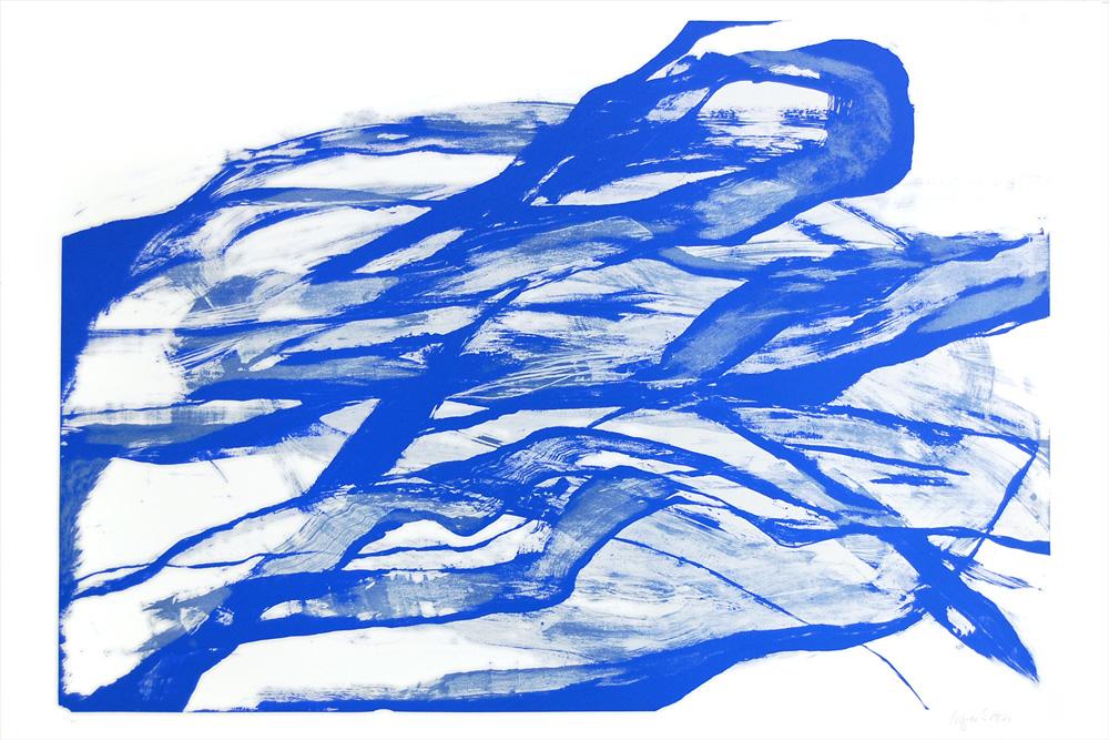 Inger Sitter: Uten tittel - Litografi, 120 x 80 cm.