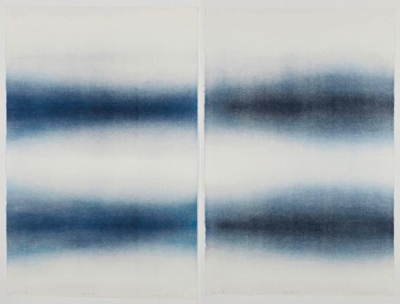 Elisabet Alsos Strand: Passasje, tresnitt 2010, 2 deler à 97x67 cm