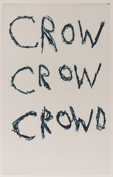 Svend-Allan Sørensen. Crow crow crowd. Kobbertrykk.