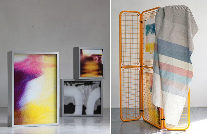 Hedvig S. Thorkildsen og Kiyoshi Yamamoto. Installasjonsfoto.