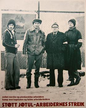Victor Lind: Streikeplakaten for Jøtul fra streiken i 1976.