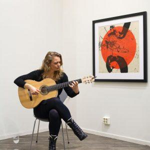 Fra åpningen - musikalsk innslag av flamencogitarist Bettina Flater