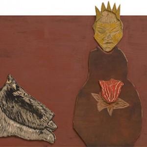 Anne Kampmann - Blomst i fanget. Tresnitt trykkplate, 170 x 60 cm