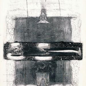 Yang Fenfg - Warrior. Syntetisk trykk, 84 x 57 cm