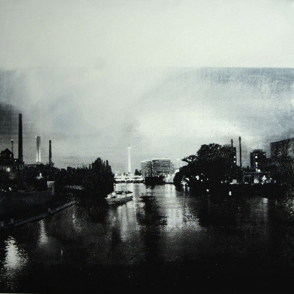 Gro Petersen - Klokken 22.00. Silketrykk/monotypi, akryll på plate