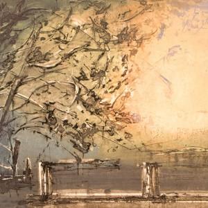 Kristian FInborud - Trær ved havet