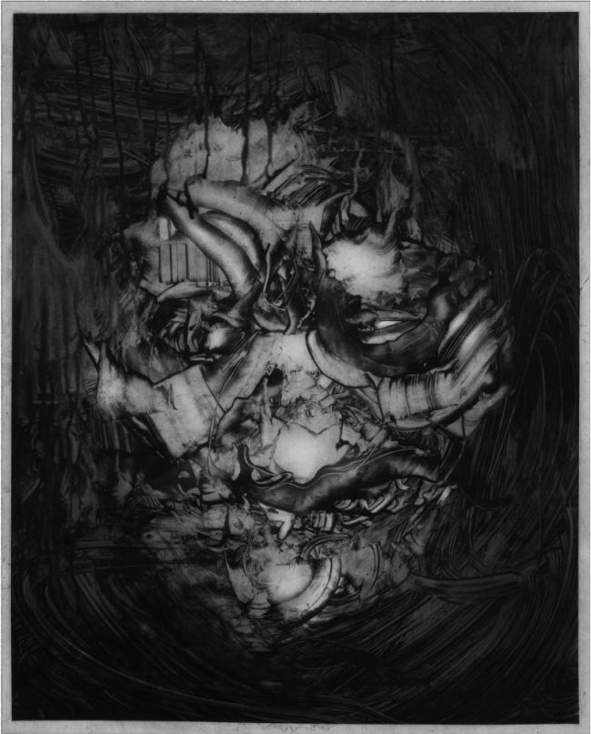 Arnold Johansen – Maske nr 1 Etsning / koldnål, 65 x 80 cm