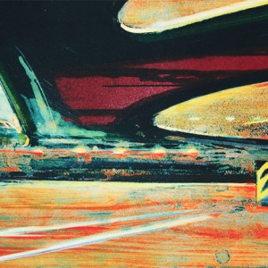 Magne Rygh - Operapassasjen. Litografi, 80 x 35 cm