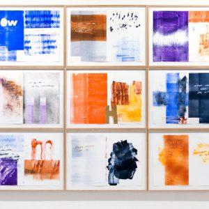 Magne Furuholmen og Lars Saabye Christensen - Serien «Døren er det vakreste møbelet i rommet» - serien består av 27 monotypier.