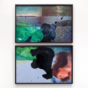 Rita Marhaug - fra Horisont-serien. Fotopolymer og monotrykk.