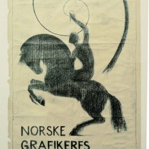 Plakat fra Norske Grafikeres første utstilling på Blomqvist kunsthandel i 1922.Plakat fra Norske Grafikeres første utstilling på Blomqvist kunsthandel i 1922.
