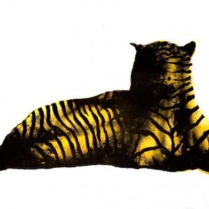 Rovdyr - 70 x 90 cm, Litografi