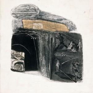 Yang Feng - Sreet Corner. Syntetisk trykk, 67 x 64 cm