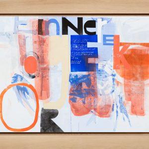 Magne Furuholmen – Inner Geek. Monotypi / olje på lerret, 192 x 142 cm inkl. ramme (2015)