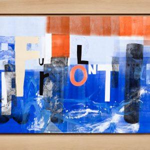 Magne Furuholmen – Full Frontal. Monotypi / olje på lerret, 192 x 142 cm inkl. ramme (2015)