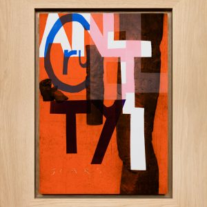 Magne Furuholmen – Anti-cruelty. Monotypi / olje på lerret, 78 x 98 cm inkl. ramme (2015)