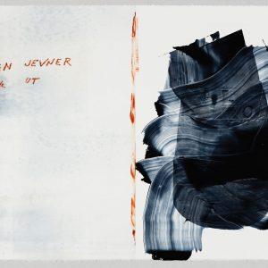Magne Furuholmen og Lars Saabye Christensen. Fra serien «Døren er det vakreste møbelet i rommet». Monotypi på papir, 64 x 46,5 cm inkl. ramme (2015)