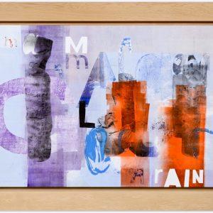 Magne Furuholmen – Magma Rain. Monotypi / olje på lerret, 192 x 142 cm inkl. ramme (2015)
